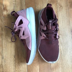 Reebok Blush Pink and Burgundy Sneaks